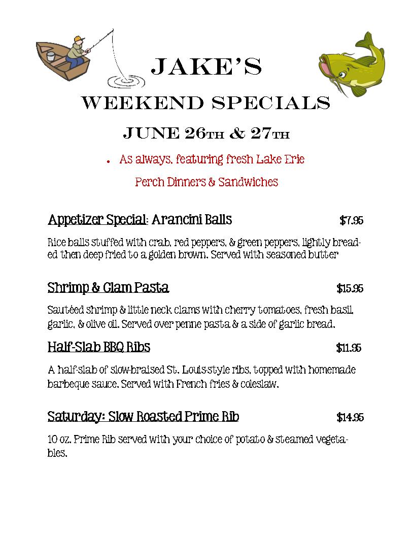 weekend special June 26