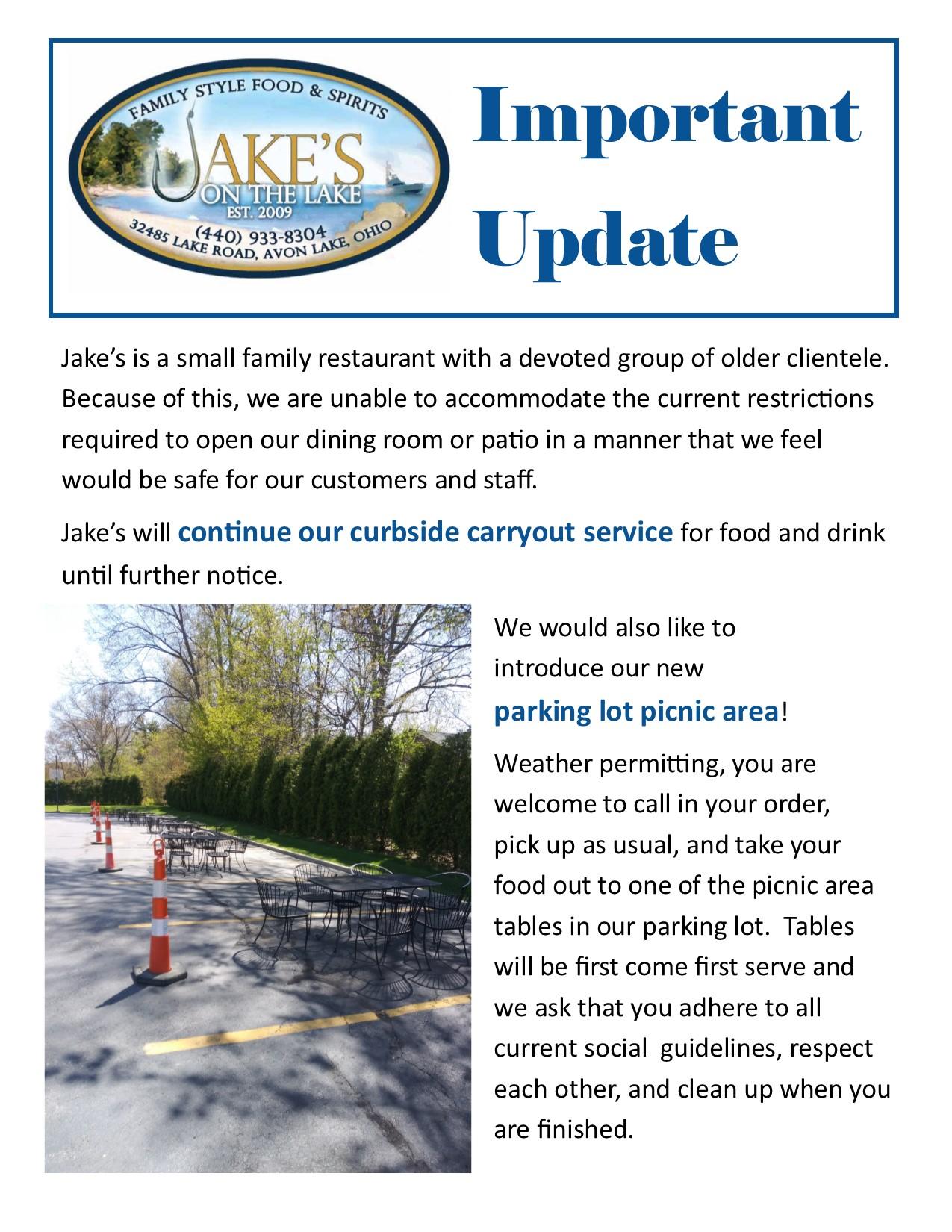 Parking lot Picnic Update